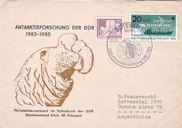 ANTARKTISFORSCHUNG DER DDR, 1981 - 1983. ALLEMAGNE SPC ANNEE 1983 CIRCULEE A ARGENTINE -LILHU - Research Programs