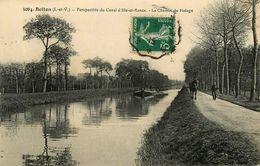 Betton * Le Chamin De Halage * Cheval Péniche Batellerie Barge Chaland * Perspective Du Canal D'ile De Rance - Autres Communes
