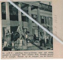 GORS-OP-LEEUW..1937.. DE A.C.W. AFDELING MET HET NIEUW VAANDEL / KANN. BROECKX SPREEKT MENIGTE TOE - Sin Clasificación