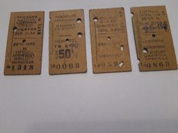 Vieux Tickets Chemin De Fer Belge - Ferrovie