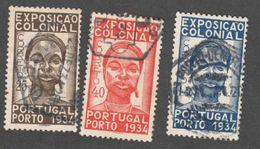 PORTUGAL 1934:Michel 578-80used Cat.Value 20Euros($22) - 1910-... Republic
