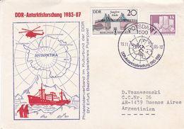 DDR - ANTARKTISFORSCHUNG 1985 - 1987. ALLEMAGNE SPC 1985, CIRCULEE A ARGENTINE -LILHU - Research Programs