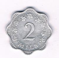 2 MILS 1972 (mintage 43000ex) MALTA /5290/ - Malta
