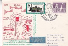 ANTARKTISFORSCHUNG DDR - UDSSR, DDR-ANTARKIST-EXPEDITION. ALLEMAGNE SPC 1977, CIRCULEE A ARGENTINE -LILHU - Polar Exploradores Y Celebridades