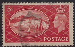 GB 1951 KGV1 5/-d Red White Cliffs Dover Used SG 510 ( L272 ) - 1902-1951 (Re)