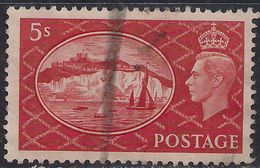 GB 1951 KGV1 5/-d Red White Cliffs Dover Used SG 510 ( J1157 ) - 1902-1951 (Re)