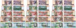 S Tome Principe 3 Pcs X Set 5 Bank 5000 10000 20000 50000 100000 Dobras 2013 UNC Lemberg-Zp - Sao Tomé Et Principe