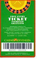 ITALY KEY CASINO    - CASINO' DI VENEZIA - Cartes De Casino