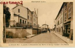 CHAVANAY LA GRANDE RUE MONUMENT AUX MORTS GROUPE SCOLAIRE MAIRIE 42 LOIRE - France