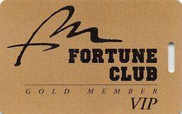 Fort McDowell Fountain Hills, AZ - Dull Gold Slot Card - Web Address Over Mag Stripe  (BLANK) - Cartes De Casino