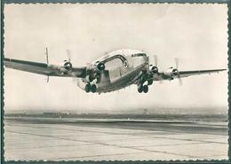 CARTE POSTALE AVIATION MARSEILLE MARIGNANE AIRPORT BREGUET AIR FRANCE AIRLINE DECOLLAGE - 1946-....: Ere Moderne