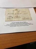 LETTRE DU 6/09/1843  Pour  POITIERS -  LETTRE C Boite Rurale De MOUGINS - Cachet Noir Du Décimal Rural - Voire SCAN - 1801-1848: Precursors XIX