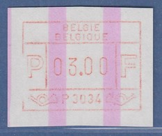 ATM Belgien ENDSTREIFEN-ATM P3034 ** Mit Besonderheit Druckausfall Linksseitig - Postage Labels