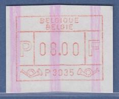 ATM Belgien ENDSTREIFEN-ATM P3035 ** Portowertstufe 8.00 BFr.  - Postage Labels