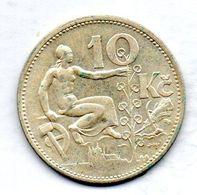 CZECHOSLOVAKIA, 10 Korun, Silver, Year 1932, KM #15 - Tchécoslovaquie