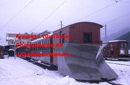 Reproduction Photographie D'un Train Chasse Neige Schynige Platte Bahn Du Chemin De Fer à Crémaillère En Suisse 1970 - Reproductions