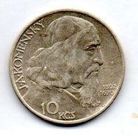 CZECHOSLOVAKIA, 10 Korun, Silver, Year 1957, KM #48 - Tchécoslovaquie