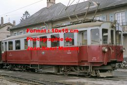 Reproduction D'une Photographie D'une Vue De Profil D'un Train A.O.M.C Aigle-Ollon-Monthey-Champery En Suisse En 1968 - Reproductions