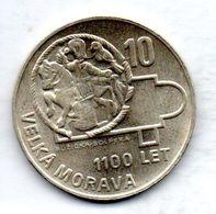 CZECHOSLOVAKIA, 10 Korun, Silver, Year 1966, KM #61 - Tchécoslovaquie