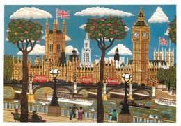 Art - Peinture - Andrew Murray - Westminster Bridge And The Palace Of Westminster - Carte Neuve - CPM - Voir Scans Recto - Peintures & Tableaux