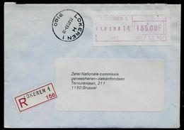 Doc. De LOKEREN - 1 H (9160) Du 11/01/93 En Rec. - Postmark Collection