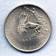 CZECHOSLOVAKIA, 10 Korun, Silver, Year 1968, KM #63 - Tchécoslovaquie