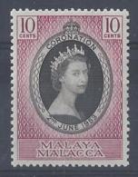 "MALAYA..."" MALACCA.""....QUEEN ELIZABETH II.(1952-NOW..)..."" 1953..""....OMNIBUS.....CORONATION...10c.....SG22......MNH... - Malacca"