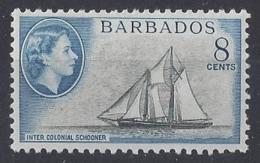 """BARBADOS....QUEEN ELIZABETH II.(1952-NOW..)..."""" 1964..""""......8c.......SG314......MNH. - Barbados (...-1966)"""