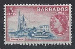 """BARBADOS....QUEEN ELIZABETH II.(1952-NOW..)..."""" 1964.."""".....5c.......SG293.........MNH. - Barbados (...-1966)"""