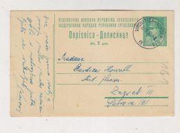 YUGOSLAVIA 1950 AMB-TRAIN Cancel VIROVITICA-NOVSKA Postal Stationery - Storia Postale