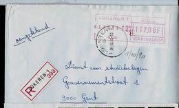 Doc. De LOKEREN - 1 G 1 - Du 01/10/90 En Rec. - Postmark Collection