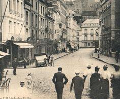 DIEPPE RUE DE L'HOTEL DE VILLE ANIMATION CPA EDITION MARCHAND 76 SEINE MARITIME - Dieppe