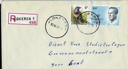 Doc. De LOKEREN - 1 H 1 - Du 03/10/90 En Rec. - Postmark Collection