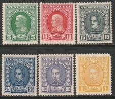 Venezuela Sc 250,251,255,255A-C Set MH - Venezuela