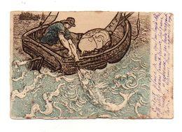Carte Postale Pêche En Mer En Relief M. M. Vienne- Format : 14x9 Cm - Cartes Postales