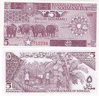 Somalia - 5 Shilin 1986 UNC P. 31b Lemberg-Zp - Somalia