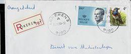 Doc. De LOKEREN - A 3 - (9160) Du 22/10/90 En Rec. - Postmark Collection