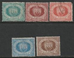 San Marino Sc 6,9,11,14,18 Partial Set Mixed - Saint-Marin