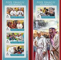 Salomon 2015, Pope Francis, 4val In BF +BF - Solomon Islands (1978-...)