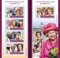 Salomon 2015, Queen Elisabeth II, 4val In BF +BF - Solomon Islands (1978-...)