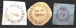 768 -  BERMUDA - 1850 - FORGERIES, FAKES, FAUX, FALSCHEN FALSOS - Stamps