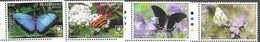 PENRHYN,  COOK ISLANDS, 2020, MNH,BUTTERLIES,4v - Butterflies