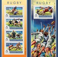 Salomon 2015, Rugby, 4val In BF +BF - Solomon Islands (1978-...)
