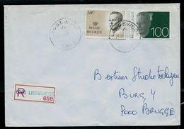 Doc. De LISSEWEGE - A -  ( 8390) Du 29/03/92en Rec. - Postmark Collection
