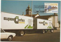 Carte Maximum PORTUGAL N°Yvert 14118 (CAMION A REMORQUE) Obl Sp Ill 1986 - Maximum Cards & Covers