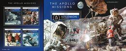 Salomon 2015, Space, Apollo 11, 4val In BF +BF - Solomon Islands (1978-...)