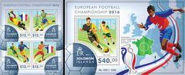 Salomon 2015, Sport, European Football Cup Franc 2016, 4val In BF +BF - Solomon Islands (1978-...)