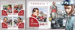 Salomon 2015, Sport, Formula 1 Drivers, 4val In BF +BF - Solomon Islands (1978-...)
