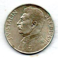 CZECHOSLOVAKIA, 50 Korun, Silver, Year 1949, KM #28 - Tchécoslovaquie