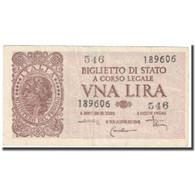 Billet, Italie, 1 Lira, Undated (1944), KM:29c, TTB - Altri